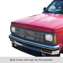 1992 Chevy S-10   Stainless Steel Billet Grille - APS-GR03HEJ42C-1992
