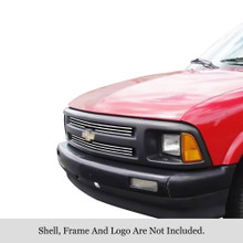1997 Chevy S-10   Stainless Steel Billet Grille - APS-GR03FEG16S-1997A