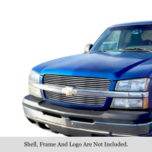 2005 Chevy Avalanche 1500   Stainless Steel Billet Grille - APS-GR03FEG17S-2005D