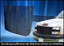 2005 Chevy Silverado 2500   Black Stainless Steel Billet Grille - APS-GR03HFH18J-2005A