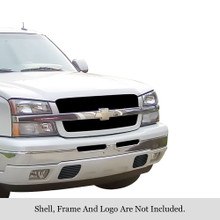 2004 Chevy Avalanche   Black Stainless Steel Billet Grille - APS-GR03HEC03J-2004F
