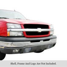 2004 Chevy Avalanche   Stainless Steel Billet Grille - APS-GR03HEC03C-2004F