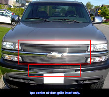 2007 Jeep Compass   Stainless Steel Billet Grille - APS-GR10FEE38S-2007