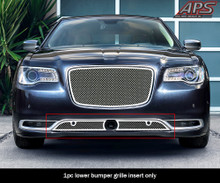 2003 Nissan Frontier   Stainless Steel Billet Grille - APS-GR14HED20S-2003