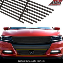 2015 Nissan Murano   Black Wire Mesh Grille - APS-GR14GFC91H-2015