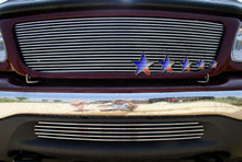 2005 Toyota Corolla   Stainless Steel Billet Grille - APS-GR20HEC82C-2005