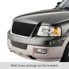 2002 Toyota Sequoia   Stainless Steel Billet Grille - APS-GR20FED28S-2002