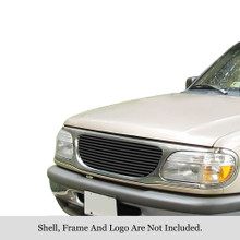 2003 Toyota Tacoma   Stainless Steel Billet Grille - APS-GR20HED65S-2003