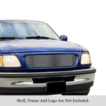 1997 Ford Expedition   Stainless Steel Billet Grille - APS-GR06HEJ29S-1997B