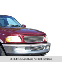 1998 Ford Expedition   Stainless Steel Billet Grille - APS-GR06HGI51S-1998A