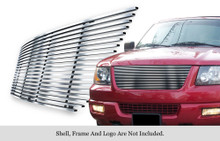 2004 Ford Expedition   Stainless Steel Billet Grille - APS-GR06FEG15C-2004