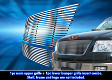 2003 Ford Expedition   Stainless Steel Billet Grille - APS-GR06HGI93C-2003