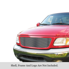 2002 Ford Expedition   Stainless Steel Billet Grille - APS-GR06HEJ73S-2002B