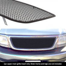 2002 Ford F-150   Black Wire Mesh Grille - APS-GR06GEG13H-2002