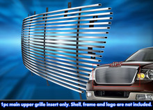 2004 Ford F-150   Stainless Steel Billet Grille - APS-GR06HEB60C-2004