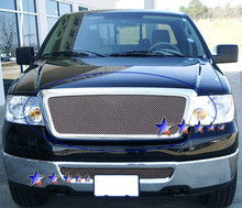 2005 Ford F-150   Mesh Grille - APS-GR06GEG25S-2005