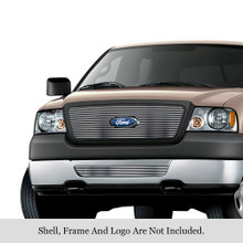 2007 Ford F-150   Stainless Steel Billet Grille - APS-GR06FGH58C-2007