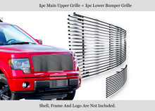 2011 Ford F-150   Stainless Steel Billet Grille - APS-GR06HFF14S-2011