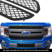 2019 Ford F-150 King Ranch  Black Wire Mesh Grille - APS-GR06GFD43K-2019A