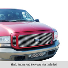 2002 Ford Excursion   Stainless Steel Billet Grille - APS-GR06FAA42S-2002B