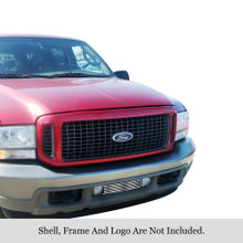 2002 Ford F-250 SD   Stainless Steel Billet Grille - APS-GR06HEC98S-2002