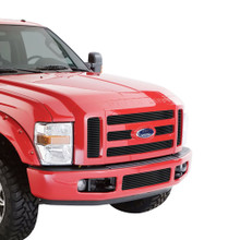 2009 Ford F-250 SD   Black Stainless Steel Billet Grille - APS-GR06FGH03J-2009A