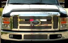 2008 Ford F-250 SD   Aluminum Billet Grille - APS-GR06FGH03A-2008B