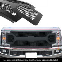 2017 Ford F-250   Black Wire Mesh Grille - APS-GR06GFC63K-2017C