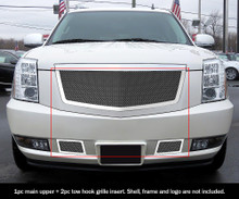 2007 Ford Fusion   Stainless Steel Billet Grille - APS-GR06HGG51C-2007