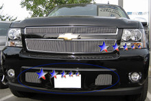 2005 Ford Mustang   Black Wire Mesh Grille - APS-GR06GFJ12H-2005