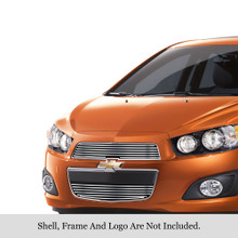 2014 Chevy Sonic   Stainless Steel Billet Grille - APS-GR03FFI39S-2014