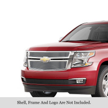 2017 Chevy Suburban   Stainless Steel Billet Grille - APS-GR03FFC20S-2017