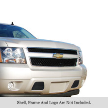 2012 Chevy Avalanche   Black Stainless Steel Billet Grille - APS-GR03FFD67J-2012B