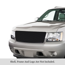 2014 Chevy Avalanche   Black Stainless Steel Billet Grille - APS-GR03HEB28J-2014B