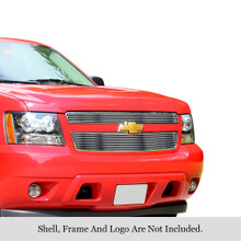 2014 Chevy Avalanche   Stainless Steel Billet Grille - APS-GR03FFD51C-2014C