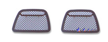 2011 Chevy Avalanche   Black Wire Mesh Grille - APS-GR03GFD67H-2011B
