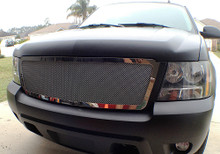 2014 Chevy Avalanche   Mesh Grille - APS-GR03GEB28T-2014B