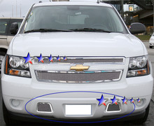 2007 Chevy Avalanche   Mesh Grille - APS-GR03GFD67T-2007B