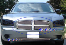 2010 Dodge Charger   Mesh Grille - APS-GR04GFD38T-2010