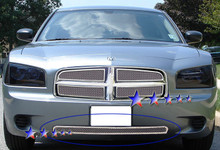 2008 Dodge Charger   Mesh Grille - APS-GR04GFD39T-2008