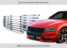 2015 Dodge Charger   Stainless Steel Billet Grille - APS-GR04FFC45C-2015A