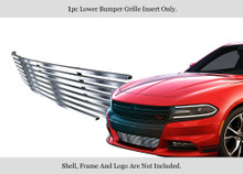 2015 Dodge Charger   Stainless Steel Billet Grille - APS-GR04FFC46C-2015A