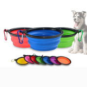 Foldable pet dog travel water bowl