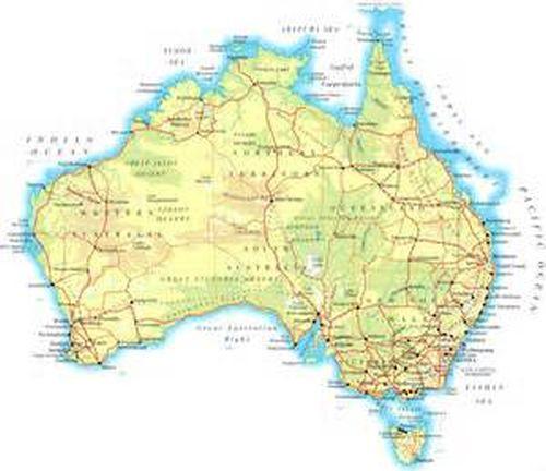 Map To Australia.Full Topographic Map Card For Garmin Astro 320 430 Australia