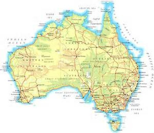Full Map Of Australia.Details About Full Topographic Map Card For Garmin Astro 320 430 Australia