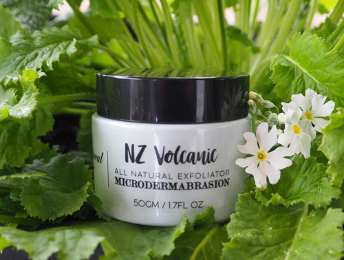 NZ Volcanic Microdermabrasion - All Natural Exfoliator - Natural, Gentle, Essential Oils and Botanical Extracts, made from naturally derived ingredients in New Zealand