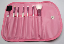 7 Piece Brush Set - Summer - Pink