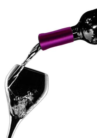 Wine Collars by Qyze | Wedding Favor | Magenta Satin Wine Accessories