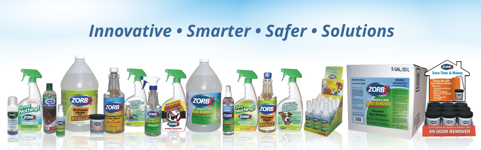 Zorbx full line of products