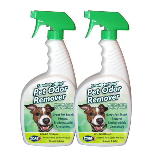 Eliminate pet odors instantly with ZORBX 24 oz. Pet Odor remover value pack